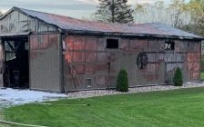All contents of a large shed in Wallaceburg were lost after an accidental fire broke out. October 13, 2021. Photo supplied by Chatham-Kent Fire Department)