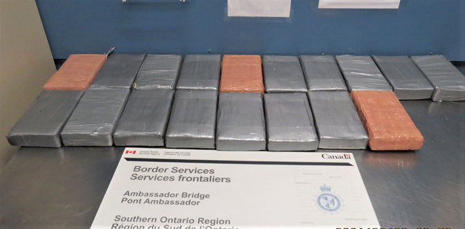 Provided by the RCMP and CBSA.